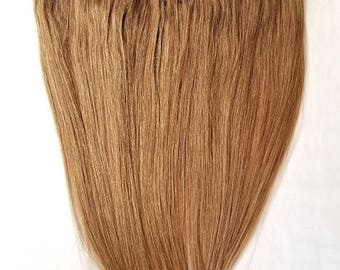 "20"" Weft Hair, 100grs,Weft Weaving (Without Clips),100% Human Hair Extensions #10 Light Brown"