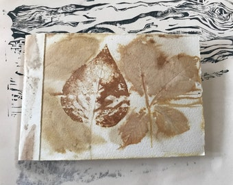 Eco Print Journal Sketchbook: blank pages
