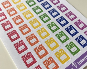 A15 - Oven - Planner Stickers