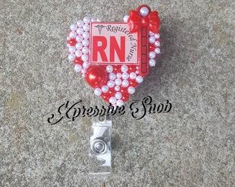 Registered Nurse Badge Reel, Badge Holder, ID Badge
