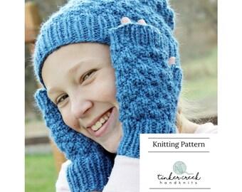 Children Slouchy Hat Pattern, Easy Beanie Pattern, Slouchy Hat Pattern, Knit Hat Pattern, Child Hat Pattern, Fingerless Glove Pattern