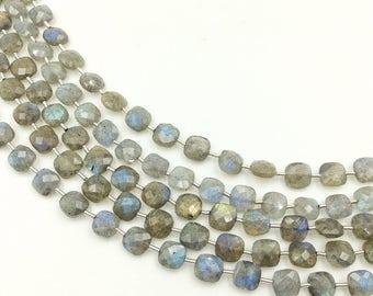 "Labradorite Checker Beads 6-7 mm (ONE 8"" Strand)"