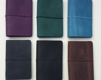 Pocket-Size Traveller's Notebook - Fauxdori - Genuine Full Grain Leather Fieldnotes Cover
