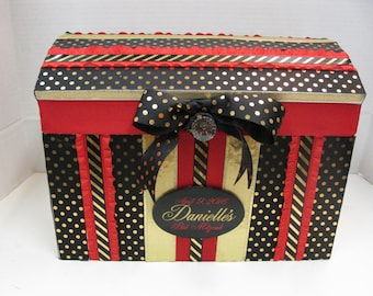 Special Birthday, Bat Mitzvah  Gift Box Money Box- Custom Made with Name and Date Plaque