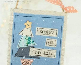 Baby's 1st Christmas decoration, Baby's first Christmas decoration, handmade Christmas hangy, 1st christmas keepsake, nursery decor