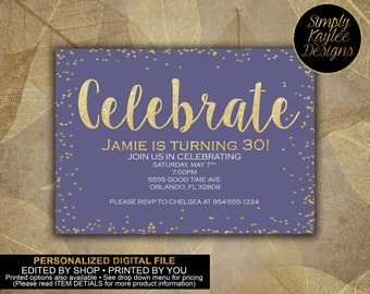 Celebrate Adult Birthday Invitation