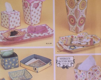 Simplicity 4362. Fabric Containers in 13 designs. Create one-of-a-kind gifts and storage containers. Uncut and factory folded.