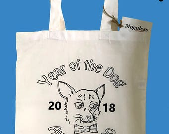 Tote Bag - White - Year of the Dog