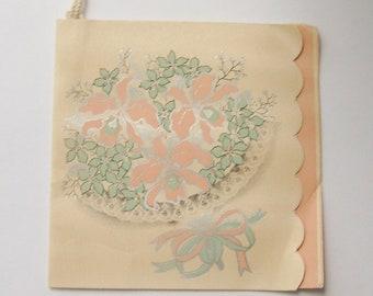 Vintage wedding bridge tally card bridal bouquet scrapbooking ephemera