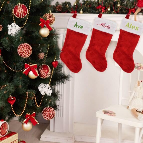 classic christmas stocking custom christmas stockings - Classic Christmas Stockings