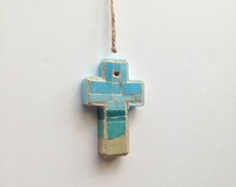 South Atlantic Mosaic Wall Cross or Christmas Ornament IV