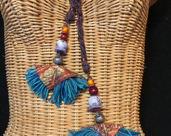 Textile Necklace One of a Kind Travel-Ready