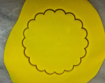 Fluted Circle Cookie Cutter - SHARP EDGES - FAST Shipping - Choose Your Own Size!