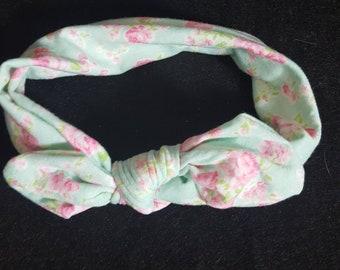 Knot headband, Flower knot headband infant  headband,couture headband, Baby girls headband knit fabric  headbands Jersey headband Hair Bows