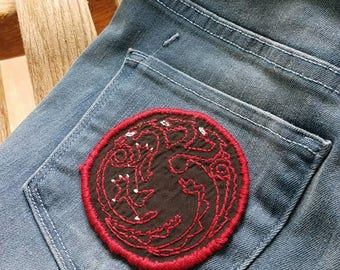 Hand Embroidered House Targaryen Patch
