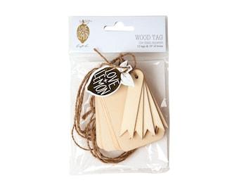 Love+Lemon Wood Gift Tags with Twine