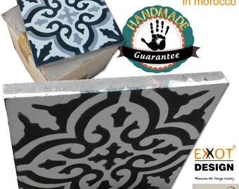 Original Moroccan Cement Tiles 28.8 m2 1 to 5 colours 100% manual work
