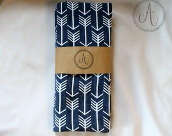 Navy Blue Arrows Swaddle Blanket, Double Gauze Swaddle, Tribal Swaddle,  Muslin Swaddle Blanket, Baby Boy Swaddle, Baby Boy Shower Gift