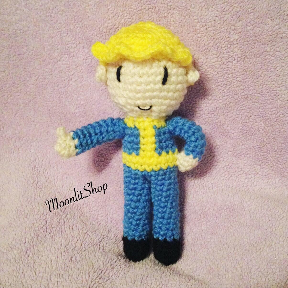 Fallout inspiriert häkeln Vault Boy Amigurumi Puppe
