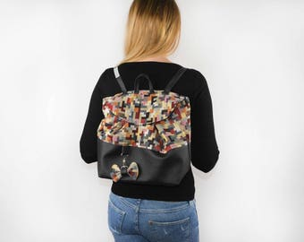 Backpack by the point collection pixels