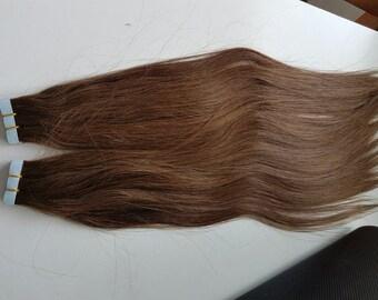 "Tape In Human Hair Extensions, European Luscious Tape In, Hair Extensions,18 "", 100% Cuticle Remy, Human Hair ,"