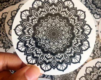 Black Mandala Sticker