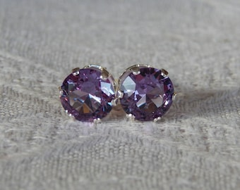 birthday gemstone alexandrite earring sterling womens earrings silver stud everyday delicate changing color birthstone gem june gift products earr