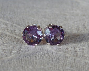 purple alexandrite rumn birthstone earrings il listing silver stud gold sterling june