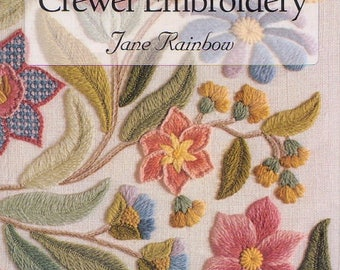Crewel Embroidery Patterns - Flower embroidery - Ebook-English Language - Butterfly embroidery - ebook - PDF - instant download