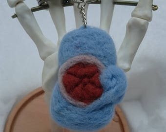 Felted Squirtle Keyring