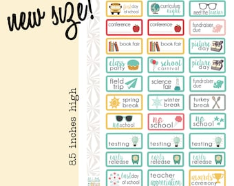 Back to School Planner Stickers (#043)