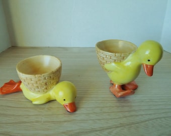 RARE CHICKEN EGGCUPS ceramic