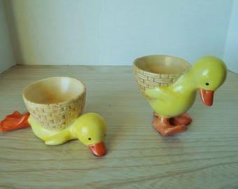 RARE CHICKEN EGGCUPS ceramic