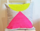 Egyptian Neon - Insert Included - Wildly comfortably throw cushion in neon pink and yellow, for your home.