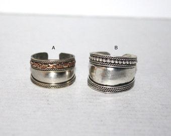 Boho Ring, Copper ring, Brass ring, Silver ring, Tribal Ring, Gypsy Ring, Adjustable ring, yoga ring, meditation ring, Tibetan ring AR8