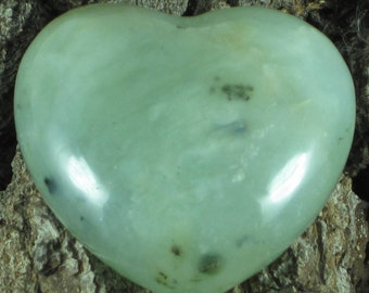 Serpentine New Jade Heart, Serpentine, New Jade, Green Heart, Crystal Heart, Crystal Healing, Healing Crystal, Green Crystal, Green Heart