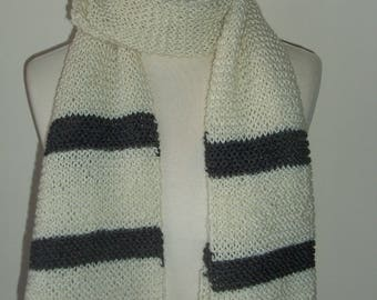 Scarf handknit for man or for woman