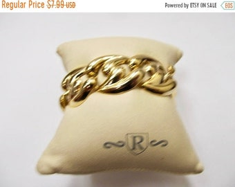 On Sale Retro Chunky Gold Tone Link Bracelet Item K # 1598