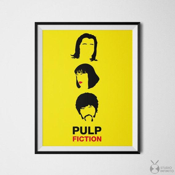 Pulp Fiction Poster Art Quentin Tarantino Pop Culture Art Film