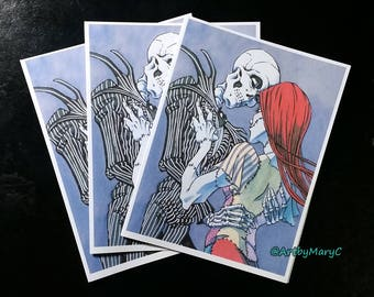 Jack Skellington and Sally Nightmare Before Christmas Greeting Card