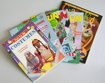 Craft Book Lot Children's Craft Books Project Books Halloween Christmas