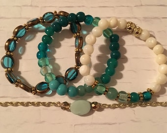 Stackable Beaded Stretch Bracelets / Mix and Match / Gift for Her / Summer Jewelry
