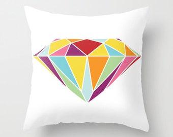 Diamond Pillow  - Geometric -  Abstract Modern Throw Pillow - Modern Home Decor - By Aldari Home