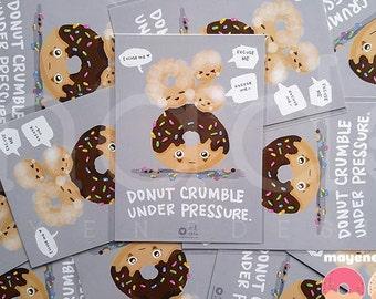 donut crumble postcard 5x7 print