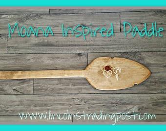 Personalized Moana Inspired Paddle/oar. Birthday decor