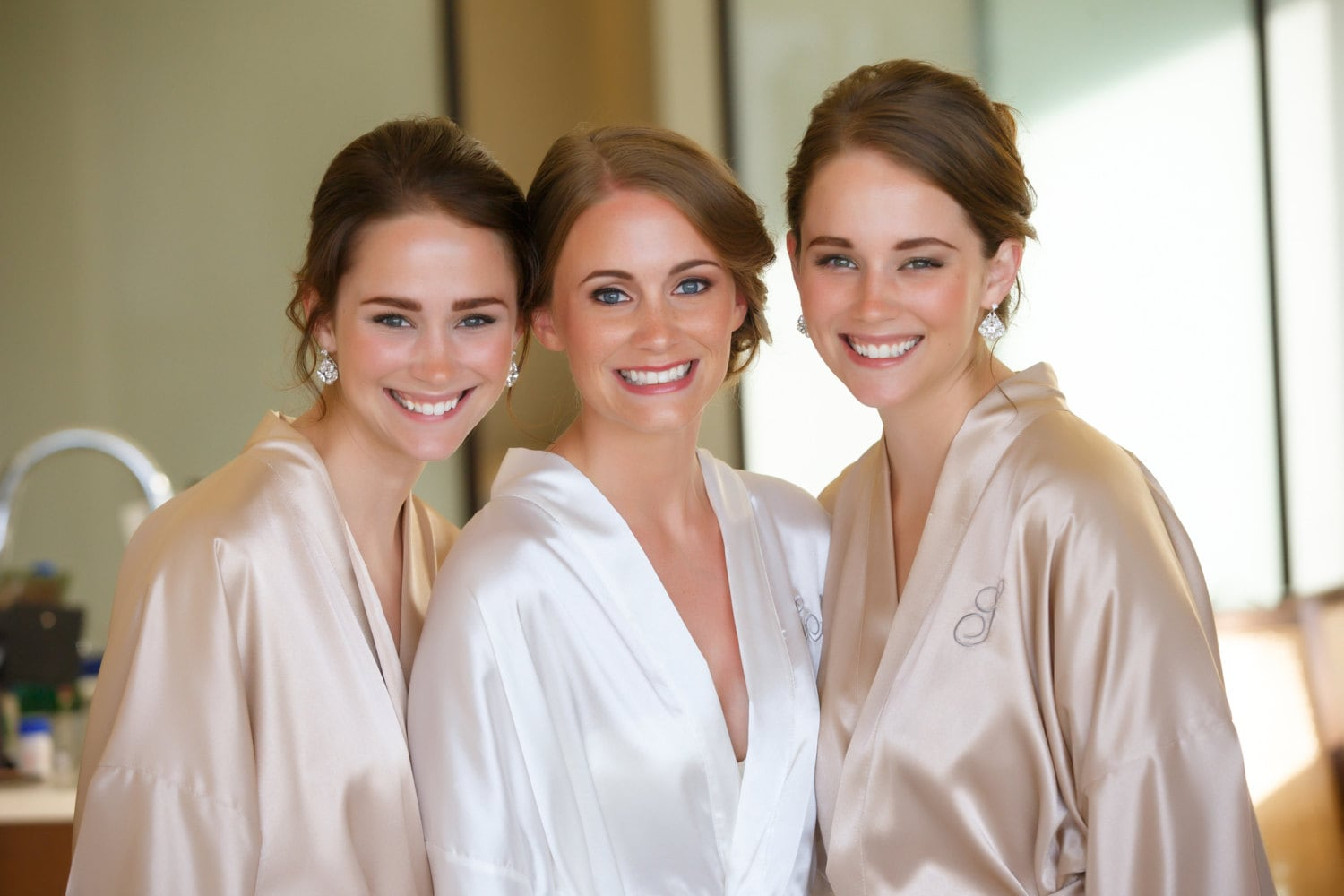 PERSONALIZED Bridesmaid robes Champagne wedding robes Beige