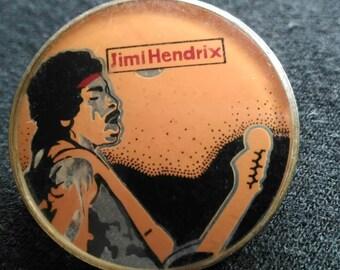 Jimi Hendrix , vintage crystal brooch 80s , beautiful collector brooch.