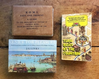 Travel Book Travel Gifts Vintage Books Rome Gifts Vintage Venice Italy Book Europe Travel Book Gift For Traveler Gift for Travel Lover Book
