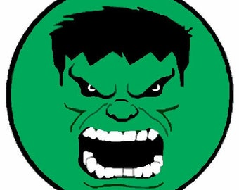 Incredible Hulk Face Superhero Embroidered Iron On Patch