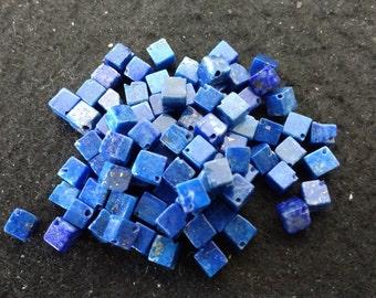 Vintage Lapis Lazuli 4mm Squares